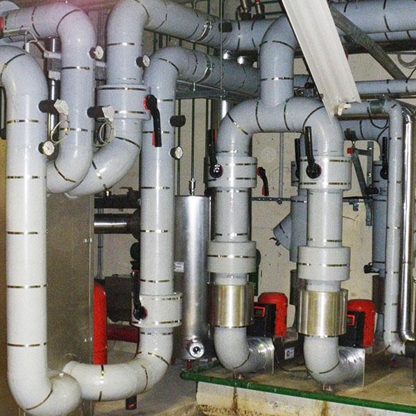Chauffage et climatisation Calorifuge tuyauteries d'eau glacée en Foamglas revêtu Terostat…