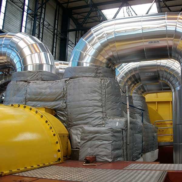 Nucléaire Matelas isolants sur corps HP…