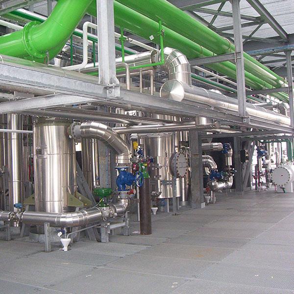 Chimie – Pétrochimie Calorifuge tuyauteries process dans Unité Diester…