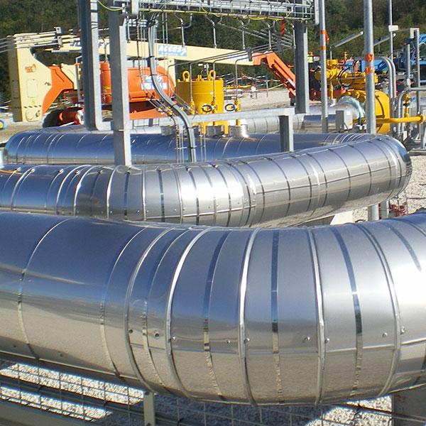 Énergie Calorifuge réseau tuyauteries dans unité de stockage gaz…